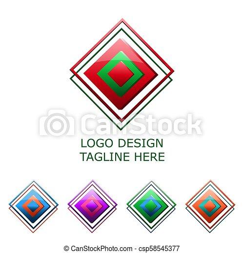 3d logo on white background - csp58545377