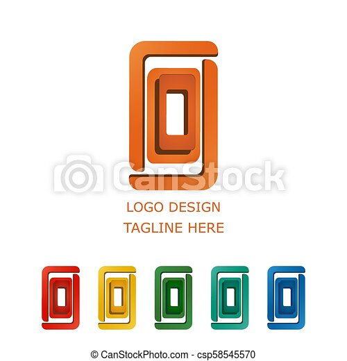 3D logo on white background - csp58545570