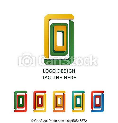 3D logo on white background - csp58545572