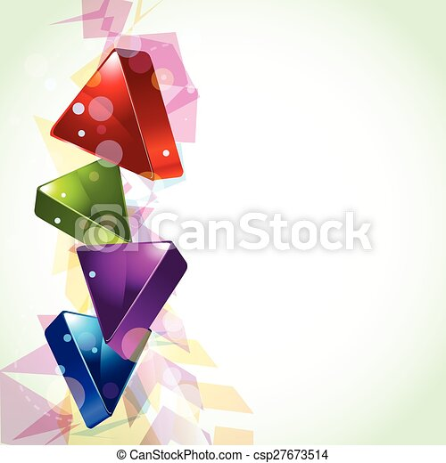 3d looking abstract design - csp27673514