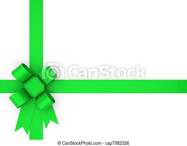3d loop green - csp7082326