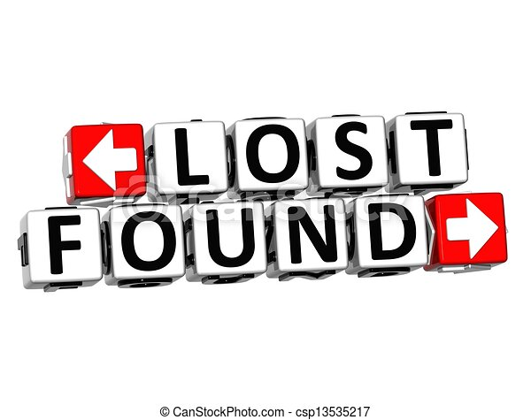3d lost found button click here block text over white background rh canstockphoto com lost items clipart lost items clipart