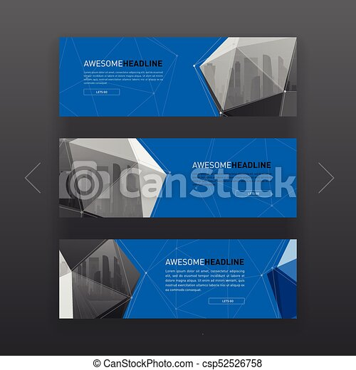 3d lowpoly solid abstract corporate banner or web slideshow template 3d lowpoly solid abstract corporate banner or web slideshow template horizontal advertising business banner or website slider layout templates set for flashek Images