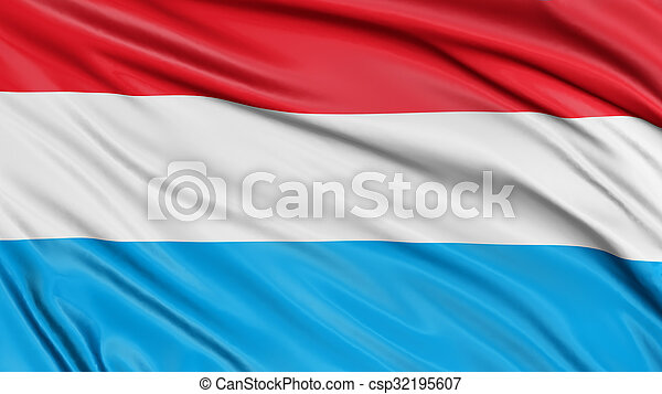 3D Luxembourg flag - csp32195607