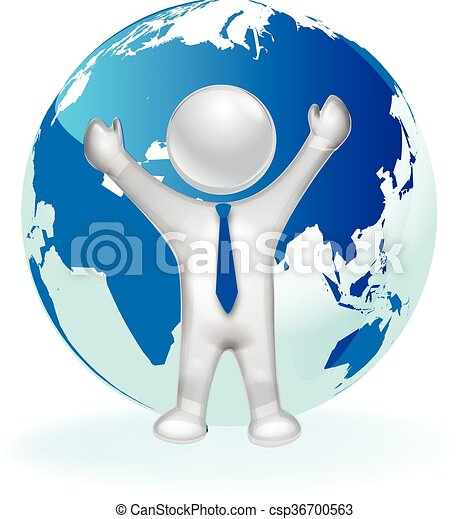 3d man and map world logo 3d happy man and map world vector icon logo 3d man and map world logo csp36700563 gumiabroncs Choice Image