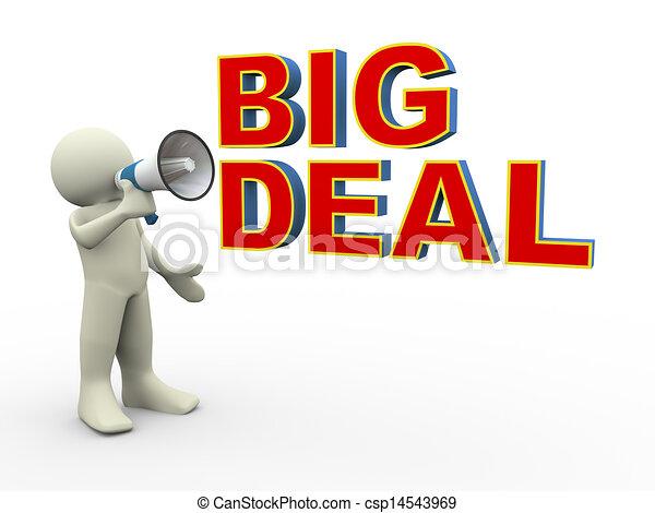 3d man big deal announcement - csp14543969
