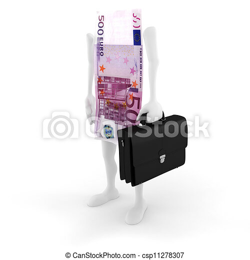 3D man bill success in business - csp11278307