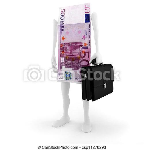 3D man bill success in business - csp11278293