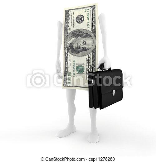 3D man bill success in business - csp11278280