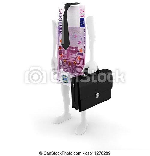3D man bill success in business - csp11278289