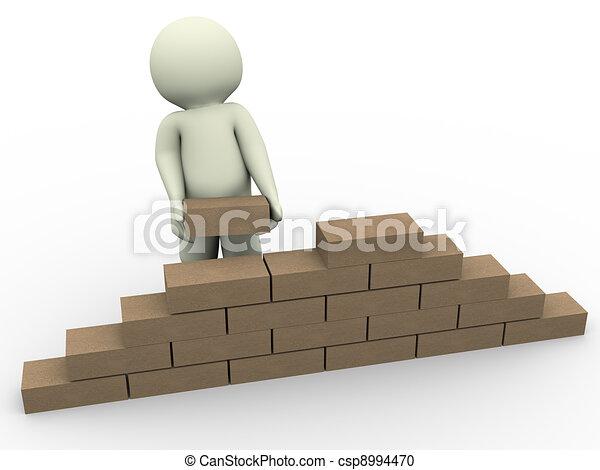 3d man builder - csp8994470