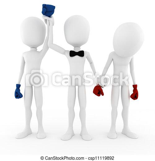 3d man business competition concept - csp11119892