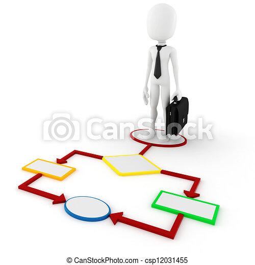 3d man business concept - csp12031455