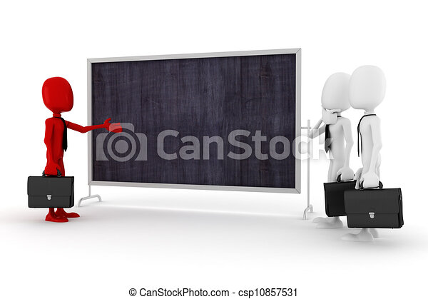 3d man business meeting - csp10857531