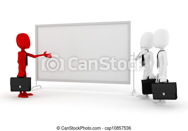 3d man business meeting - csp10857536