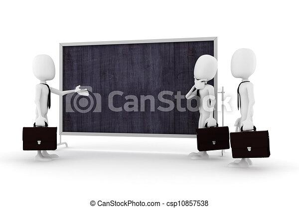 3d man business meeting - csp10857538
