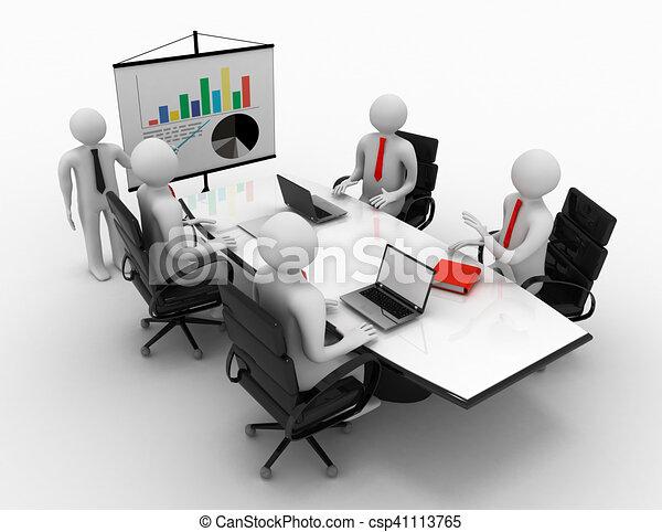 3d man business meeting - csp41113765