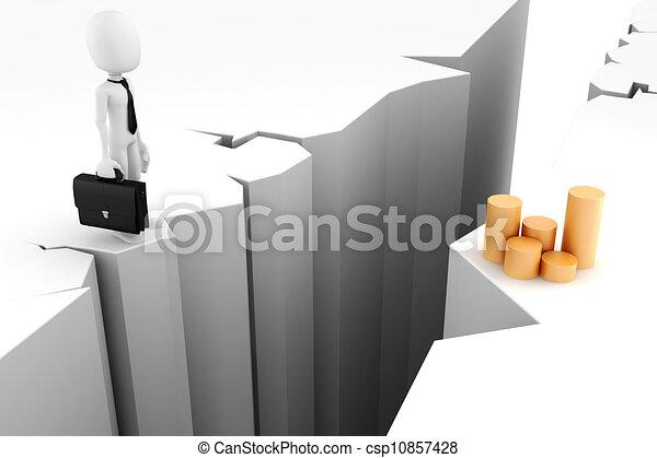3d man, business motivation - csp10857428