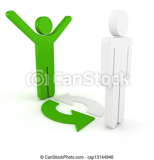 3d man business organization - csp13144946