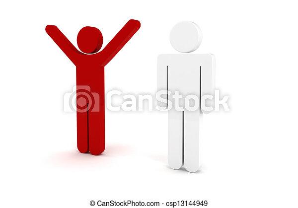 3d man business organization - csp13144949