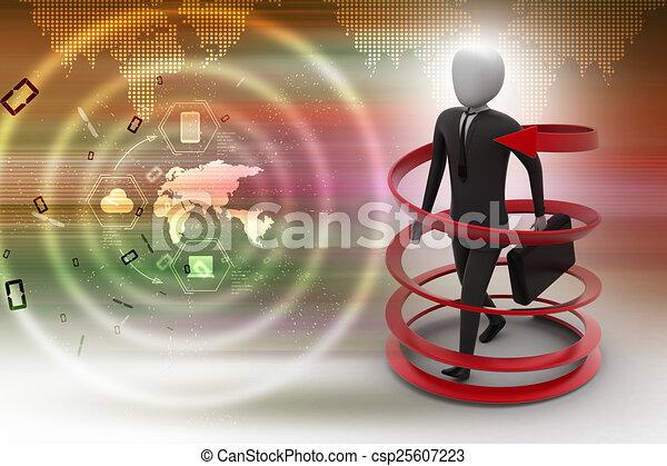 3d man business success concept - csp25607223