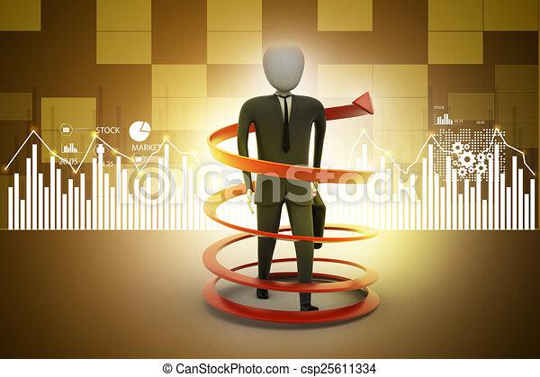 3d man business success concept - csp25611334