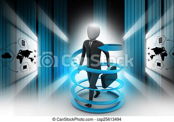 3d man business success concept - csp25613494