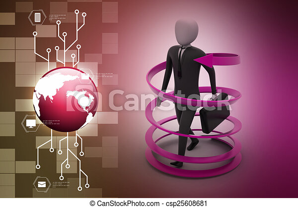 3d man business success concept - csp25608681