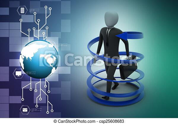 3d man business success concept - csp25608683