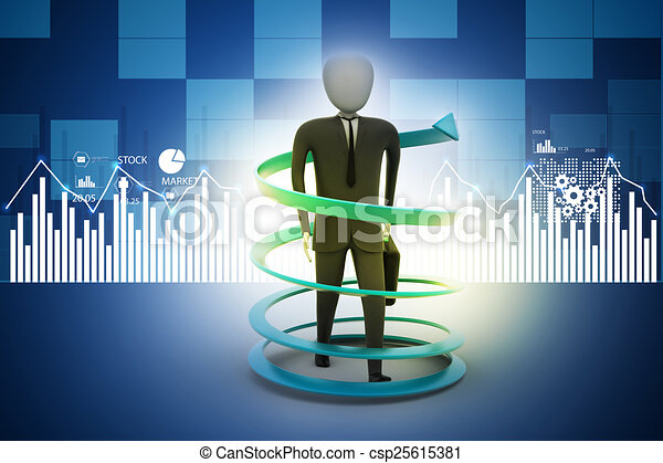 3d man business success concept - csp25615381