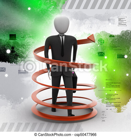 3d man business success concept - csp50477966