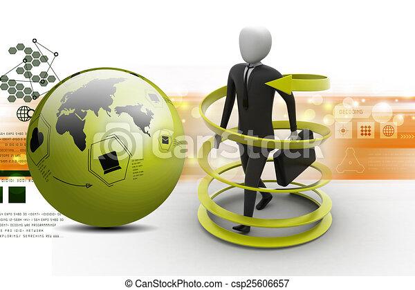 3d man business success concept - csp25606657