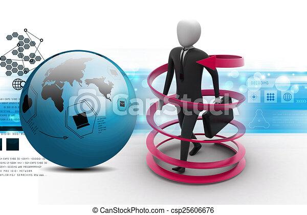 3d man business success concept - csp25606676