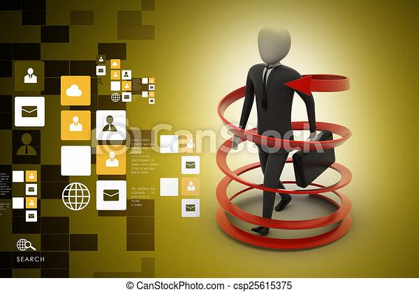 3d man business success concept - csp25615375