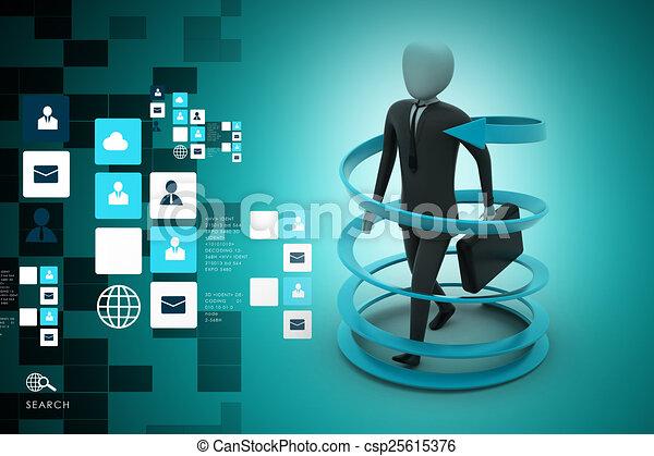 3d man business success concept - csp25615376