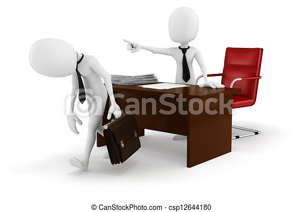 3d man businessman -FIRED! - csp12644180