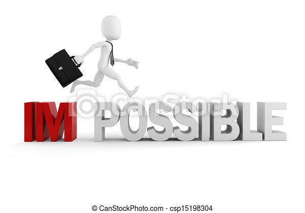 3d man businessman with positive attitude - csp15198304