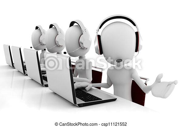 3d man call center - csp11121552