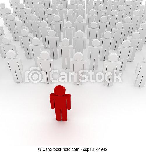 3d man crowd business organization - csp13144942