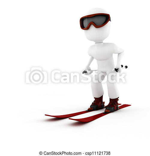 3d man extreme winter sport - csp11121738