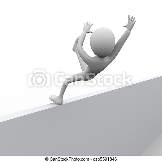 3D man falling - csp5591846