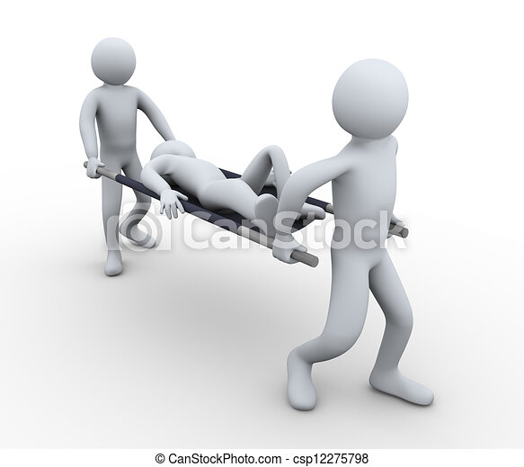 3d man first aid help - csp12275798