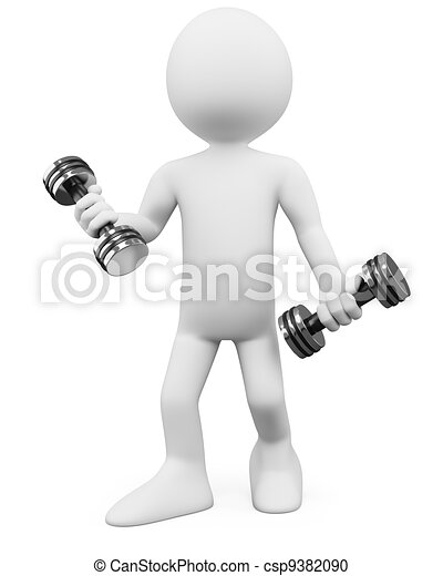 3D Man - Fitness - csp9382090