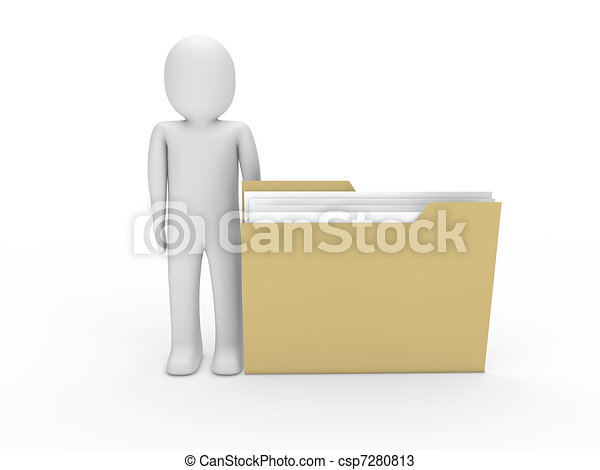 3d man folder - csp7280813