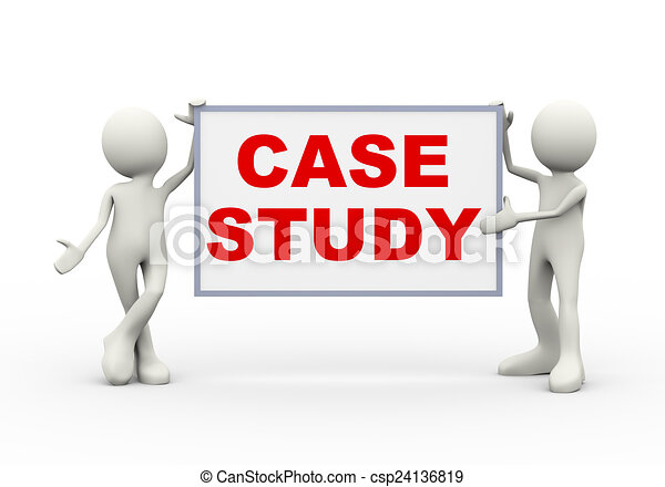 3d man holding case study. 3d illustration of people holding ...