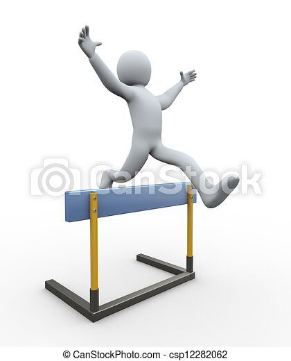 3d Man Hurdle Jump