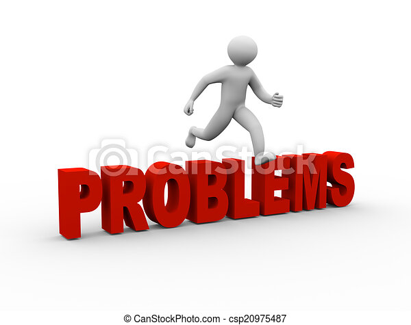 3d Man Jumping Over Problems 3d Illustration Of Person