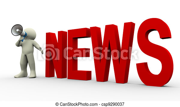 3d man news announcement - csp9290037