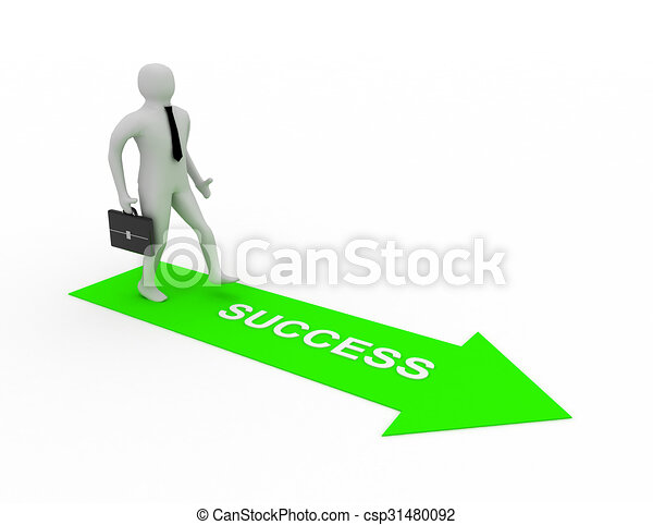 3d man on way to success - csp31480092