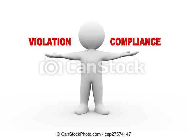 3d man open hands violation compliance. - csp27574147